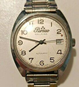 Orologio da polso Vintage Perseo Railking Steel Acciaio swiss made 25 jewels  FS