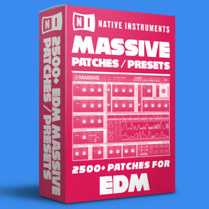 2500+ EDM Patches / Presets for Native Instruments Massive