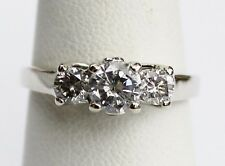 1 ctw Diamonds 14k Solid White Gold Ring ~ Size 7.5 ~ Wedding- Engagement