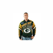 NEW G-III Green Bay Packers Sports Men's Large NFL Linebacker Twill Jacket SR
