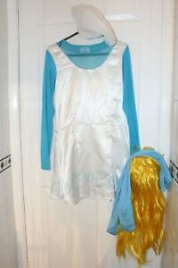 Ex Hire Medium The Smurfs: Smurfette Outfit Fancy Dress Costume