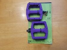 "DK Blender BMX Platform Pedals 1/2"" Plastic Nylon Purple"