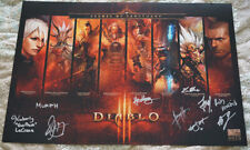 Blizzcon 2013 Diablo III Mini Poster signed by Voice Actors
