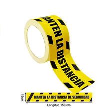Rollo de vinilos Adhesivos para Suelo Manten LA Distancia DE Seguridad 25 Metro