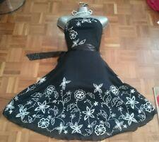 Jane Norman dress 10 wedding evening Christmas bodycon black prom gown skater m