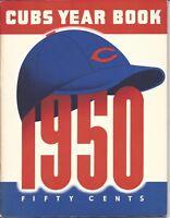 1950 Chicago Cubs Baseball Yearbook, magazine, Hank Sauer, Phil Cavarretta GOOD