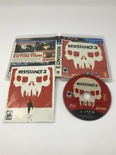 Resistance 3 PlayStation 3 PS3 TESTED DISC CIB COMPLETE FAST TRACKED SAFE SHIP
