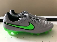 Nike Tiempo Legend V FG ACC Soccer Cleats WOLF GREY/GREEN 631518-030 Men Sz 5.5
