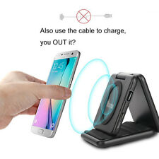 5000mAH QI Fast Wireless Charger Charging Power Bank for Samsung Note 5 S7 S8