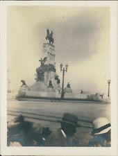 Cuba, La Havane, Havana, Monument Statue équestre de Antonio Maceo Vintage silve