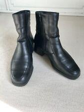 Gefütterte Stiefel Leder Stiefelette 37,5 Top  Schwarz 4 1/2 Ara Ankle Boots