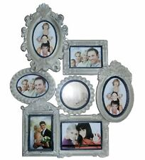 Picture Frame Collage Grey Antique Wood Photo Gallery Used