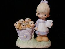 New ListingPrecious Moments *Very Rare* Girl With Puppies-$750V-Rare One Hole Variety