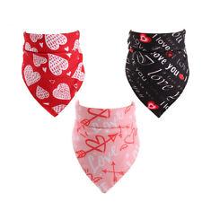 2Valentine's Day Pet Cat Dog Bandana Cotton Triangle Scarf Bib Costume Accessory