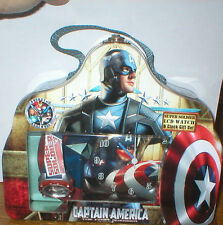 CAPTAIN AMERICA THE FIRST AVENGER SUPER SOLDIER LCD WATCH & CLOCK GIFT SET