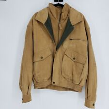 Tanner's Avenue New York Men's Jacket Soft Tan Suede Bomber Coat Size XL