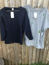 Bundle Of 2 Tops By Cotten Trader And George Size 24 (D580)