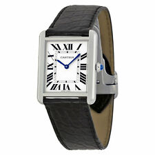 Cartier Stainless Steel Case Women's Square Wristwatches