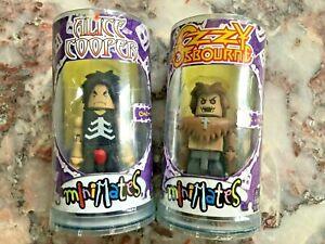 Art Asylum Minimates Series 1 Alice Cooper and Ozzy Osbourne 2 Figures Lot
