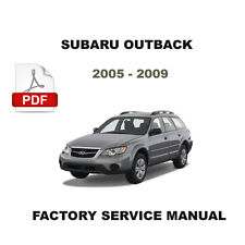 SUBARU OUTBACK 2005 - 2009 ULTIMATE FACTORY SERVICE REPAIR WORKSHOP FSM MANUAL