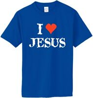 I LOVE JESUS on Adult & Youth Cotton T-Shirt (in 12 Colors)