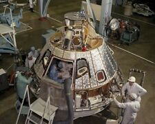 Heat shield being installed on the Apollo 1 Command/Service Module 1966 Photo