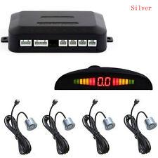 Silver 4 Sensors Car Reverse Parking Radar System LED Display Alert Alarm System