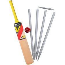 NOVELTY CRICKET BAT BALL STUMPS 12 STAND UP Edible Image Cake Toppers Birthday