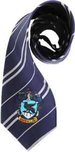 Official Harry Potter Tie Hogwarts Ravenclaw Crest Necktie Costume Accessory