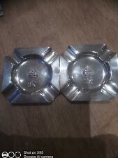 pair of Silver Ashtrays