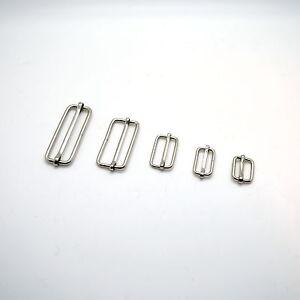 Metal Sliding Bars Buckles Straps for Webbing Strap Tape Craft 16 - 50 mm