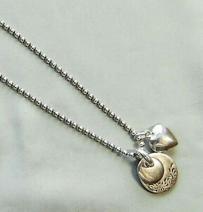 Vtg 925 Sterling Italy 3 Charm Pendant/Locket Long Necklace - 34 Grams - A160