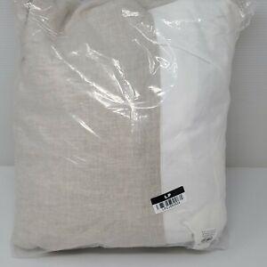 "NEW Pottery Barn Belgian Flax Linen QUEEN Bed Skirt~18"" Drop~Flax"