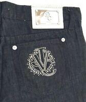 VJC VERSACE Damen Jeans Hose dunkelblau darkblue Straight Leg NEU Etikett 189€!