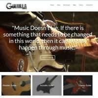 "GUITAR Website Business For Sale - £147.99 A SALE. ""9000 Visitors a Month"""