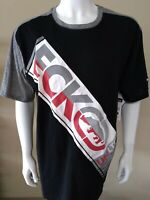 NWT ECKO UNLTD AUTHENTIC MEN'S BLACK  CREW NECK SHORT SLEEVE T-SHIRT SIZE LARGE