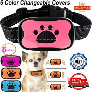 Anti Bark Dog Collar Stop Barking Sound & Vibration Adjustable S/M/L LED 6 Shell