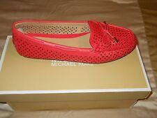 Michael Kors Daisy Moc Flat Shoes Perforated Coral Reef Women's 8 NIB