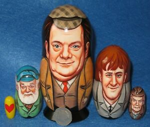 Only fools and horses Del Boy Rodney Uncle Albert Grandad nesting dolls 5 signed