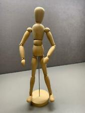"""Articulated Artist Form Mannequin Art Model for Figure Drawing 13.25"""" Wood"""