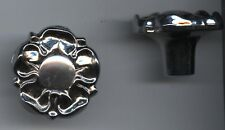 SILVER CROSS WILSON BALMORAL COACH BUILT PRAM ROSE CANOPY KNOBS