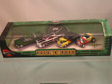 Hot Wheels  ROCK 'N' ROAD  (4) Car Set