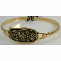 Damascene Gold Cuff Bracelet Star of Redemption Design by Midas of Toledo Spain