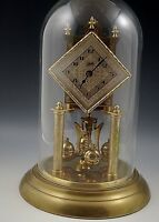 SCHATZ ORIGINAL CLOCK DIAMOND FACE GLASS DOME SEPTEMBER 1954 GERMANY WORKING