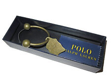 Polo Ralph Lauren Brass Barbell RL67 Tag Plaque Keychain Key Fob