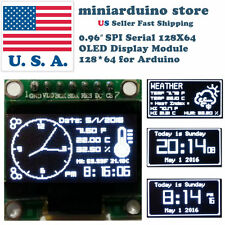 0.96″ SPI Serial 128X64 OLED LCD LED Display Module 128*64 WHITE SSD1306 Arduino