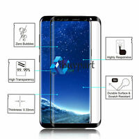 2* For Samsung Galaxy S9 S8 Plus Full Cover Tempered Glass Screen Protector Film