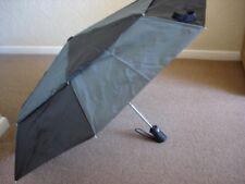 totes Wonderlight Auto Double Canopy Umbrella Black & Grey