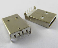 10Pcs USB Type 4pin A male socket Connector PCB Socket Right Angle 90 Degreee