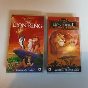 The Lion King 1 & 2 Simbas Pride VHS Video Walt Disney Classics
